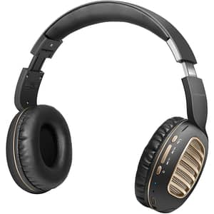 Casti PROMATE Concord, Bluetooth, On-Ear, Microfon, slot MicroSD, auriu