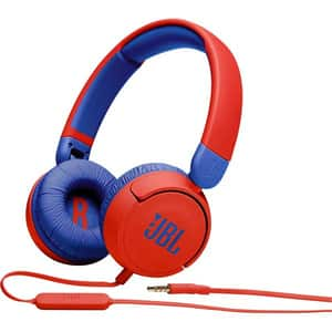 Casti pentru copii JBL Jr310, Cu fir, On-ear, Microfon, rosu