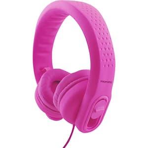 Casti pentru copii PROMATE Flexure-2, Cu fir, On-Ear, Microfon, roz