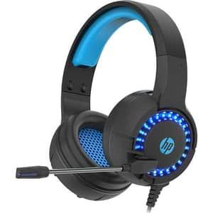Casti Gaming HP DHE-8011UM, Jack 3.5mm, negru-albastru
