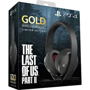Casti Gaming Wireless SONY PlayStation 4 (PS4) Gold, 7.1 surround, multiplatforma, USB, 3.5mm, The Last of Us Part II Limited Edition