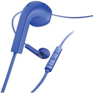 Casti HAMA Advance, Cu Fir, In-Ear, Microfon, albastru