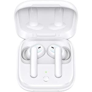 Casti OPPO Enco W51, True Wireless, Bluetooth, In-Ear, Microfon, Noise Cancelling, Carcasa incarcare wireless, alb