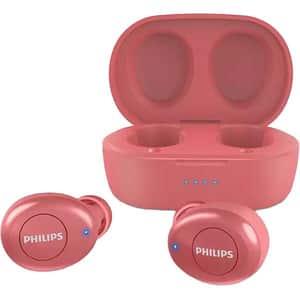 Casti PHILIPS TAT2205RD/00, True Wireless, Bluetooth, In-Ear, Microfon, rosu