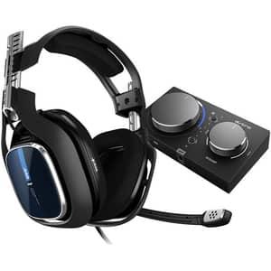 Casti Gaming ASTRO A40 TR, surround, 3.5 mm, negru + MixAmp Pro TR PS4