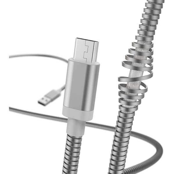 Cablu date HAMA 183334, MicroUSB, 1.5m, argintiu