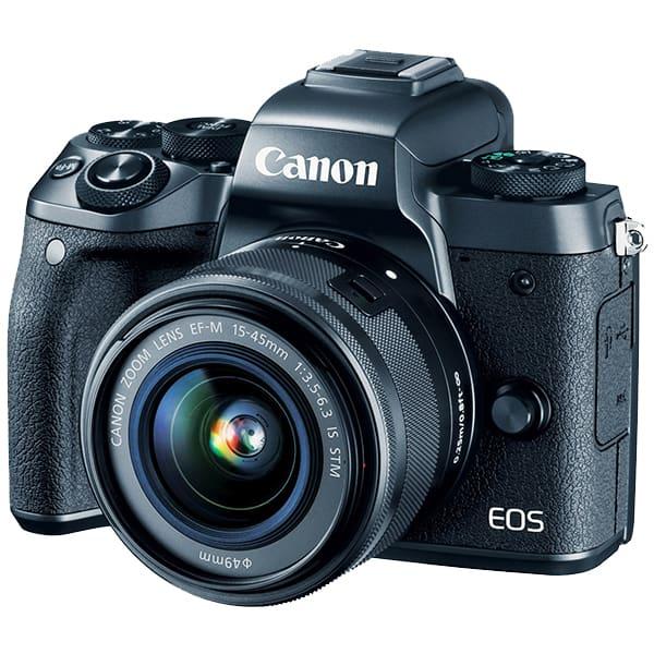 Aparat foto Mirrorless CANON EOS M5, 24 MP, Wi-Fi, negru + Obiectiv EF-M 15-45mm