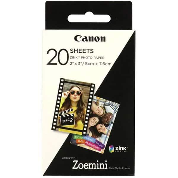 Pachet hartie foto CANON Zoemini, 20 coli