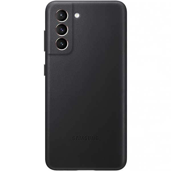 Carcasa Leather Cover pentru SAMSUNG Galaxy S21, piele naturala, EF-VG991LBEGWW, negru