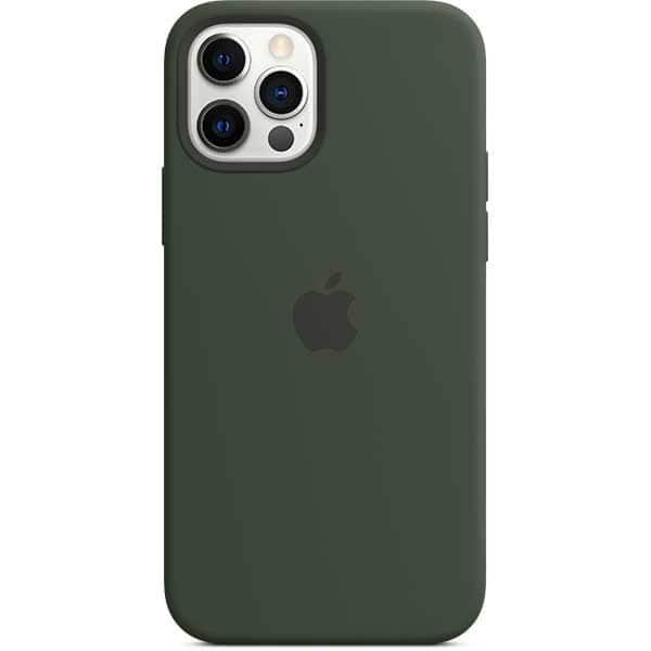 Carcasa cu MagSafe pentru Apple iPhone 12 Pro/iPhone 12, MHL33ZM/A, silicon, Cypress Green