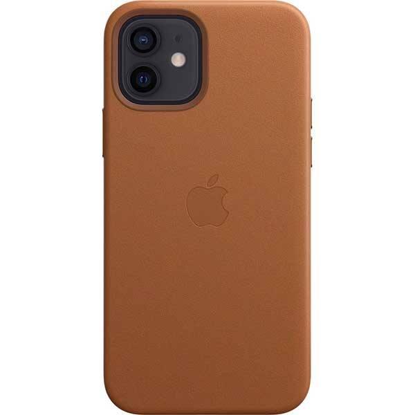 Carcasa cu MagSafe pentru Apple iPhone 12 Pro/iPhone 12, MHKF3ZM/A, piele naturala, Saddle Brown