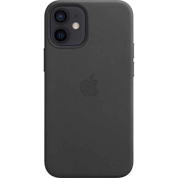 Carcasa cu MagSafe pentru Apple iPhone 12 mini, MHKA3ZM/A, piele naturala, Black
