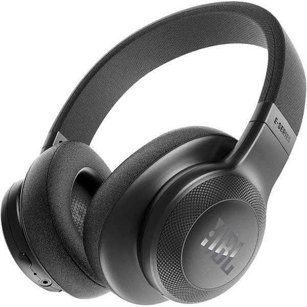 Casti JBL E55BT, Bluetooth, Over-Ear, Microfon, negru