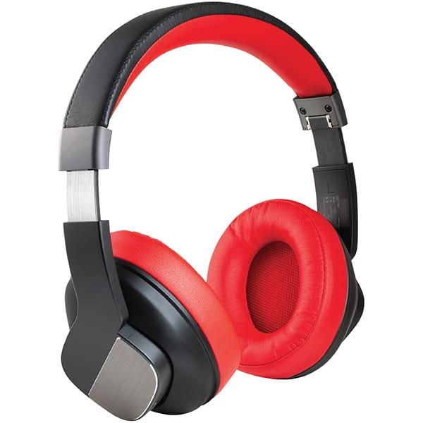 Casti PROMATE TrueBeats, Bluetooth, On-Ear, Microfon, Noise Cancelling, rosu