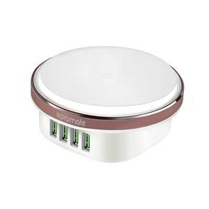 Hub USB pentru incarcare PROMATE ChargeLite-4EU, 4xUSB, 4.4A, lampa LED, alb