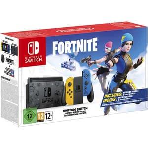 Consola NINTENDO Switch (Joy-Con Neon Yellow/Blue) HAD + joc Fortnite Special Edition (cod download)