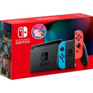 Consola NINTENDO Switch (Joy-Con Neon Red/Blue) HAD + joc Just Dance 2020 (cod download)