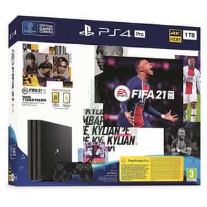 Consola SONY PlayStation 4 Pro (PS4 Pro) 1TB, Jet Black, G-Chassis + joc FIFA 21 + extra controller DualShock 4 V2