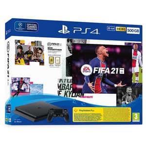 Consola SONY PlayStation 4 Slim (PS4 Slim) 500GB, Jet Black, F-Chassis + joc FIFA 21