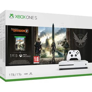 Consola MICROSOFT Xbox One S 1TB, alb + joc Tom Clancy's The Division 2 (cod download)