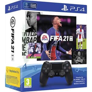Controller Wireless SONY PlayStation DualShock 4 V2, negru + Fifa 21