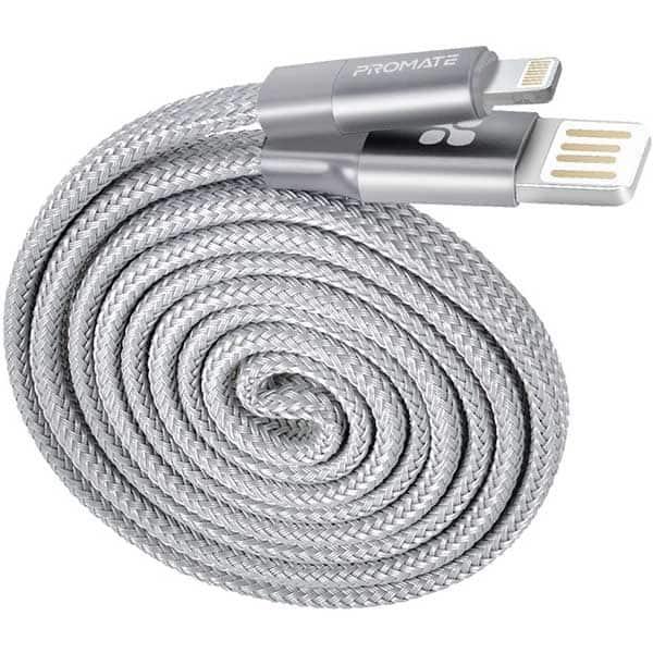 Cablu date PROMATE Coiline-i, Lightning, 1m, gri
