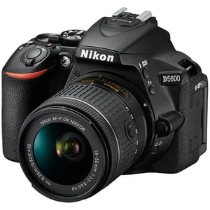 Camera foto DSLR NIKON D5600, 24.2 MP,  Wi-Fi, negru + Obiectiv AF-P 18-55mm VR