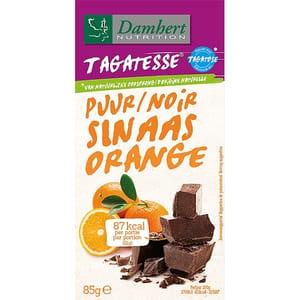 Ciocolata neagra cu portocale DAMHERT Sinaas Orange, 85g, 3 bucati