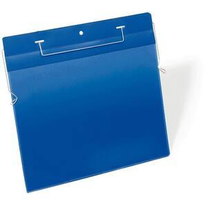 Sistem de prezentare logistic DURABLE, A4, orizontal, 50 bucati, albastru