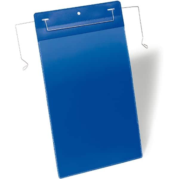 Sistem de prezentare logistic DURABLE, A4, vertical, 50 bucati, albastru