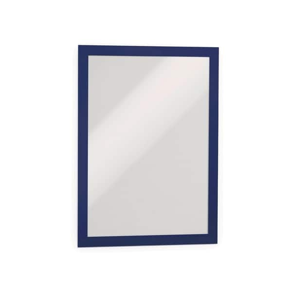 Display magnetic DURABLE Duraframe, A4, 2 bucati, albastru