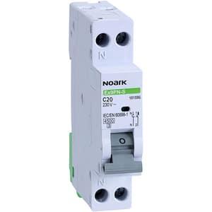 Siguranta automata modulara NOARK 101596, 1P + N, 20A, curba C