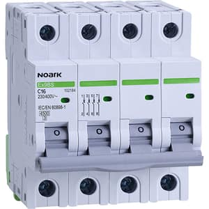 Siguranta automata modulara NOARK 102184, 3P + N, 16A, curba C