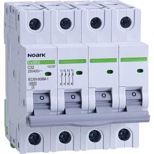 Siguranta automata modulara NOARK 102187, 3P + N, 32A, curba C