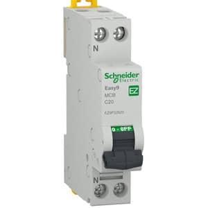 Siguranta automata modulara SCHNEIDER EZ9P32620, 1P + ND, 20A, curba C