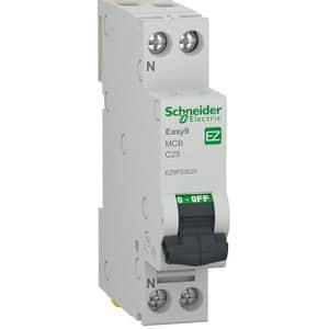 Siguranta automata modulara SCHNEIDER EZ9P32625, 1P + ND, 25A, curba C