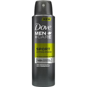 Deodorant spray antiperspirant DOVE Men+Care Sport Active Fresh, 150ml