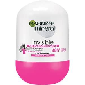 Deodorant roll-on GARNIER Mineral Invisible, 50ml