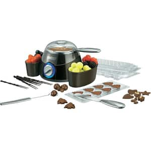 Aparat pentru ciocolata fondue UNOLD U48667, 25W, negru-argintiu