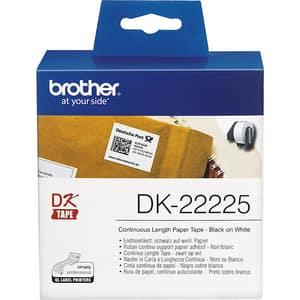 Banda etichete BROTHER DK-22225, 38 mm, 30,48 m, Negru pe Alb