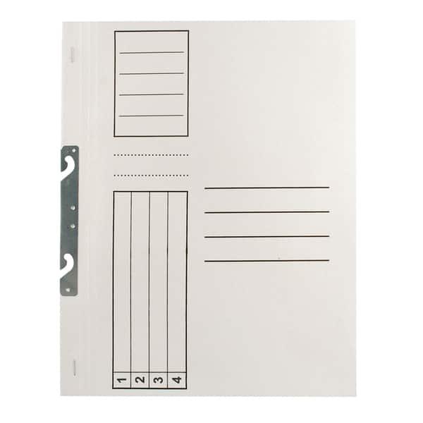 Dosar incopciat VOLUM, 1/1, A4, carton, 10 bucati, alb