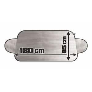 Protectie parbriz impotriva inghetului CARFACE DOCFAT25011B, argintiu