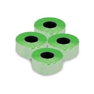 Etichete autoadezive pentru marcatoare ROMPRIX, 26 x 12 mm, 1500 bucati/rola, verde fluorescent