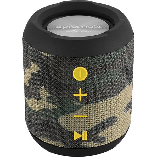 Boxa portabila PROMATE Bomba, Bluetooth, MicroSD, Waterproof, True Wireless, camuflaj
