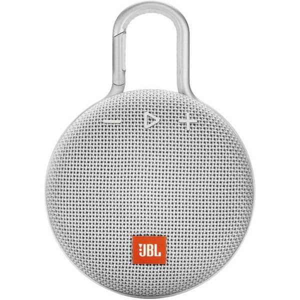 Boxa portabila JBL Clip 3, Bluetooth, Waterproof, alb