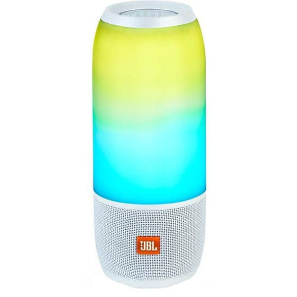 Boxa portabila JBL Pulse 3, Bluetooth, Waterproof, Sunet 360, alb