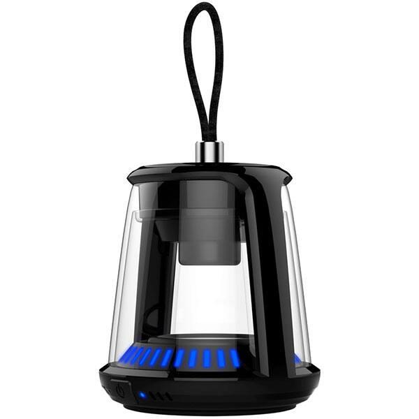 Boxa portabila TELLUR Mithra TLL161121, Bluetooth, True Wireless, Waterproof, negru-transparent