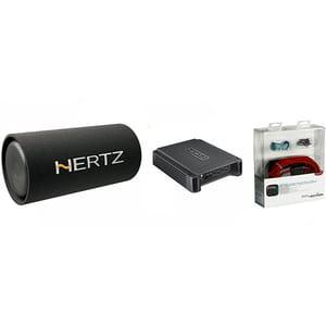 Pachet Subwoofer auto HERTZ DST 30.3B + Amplificator HCP2 + kit cabluri FPK 350