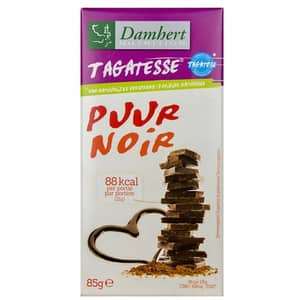 Ciocolata neagra DAMHERT Puur Noir, 85g, 3 bucati
