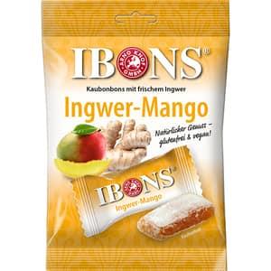 Bomboane gumate IBONS Ingwer-Mango, 92g, 4 bucati